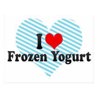 Amo el yogurt congelado postales