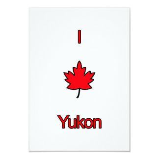 """Amo el Yukón Invitación 3.5"""" X 5"""""""
