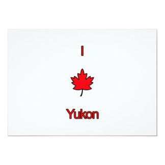 """Amo el Yukón Invitación 5"""" X 7"""""""