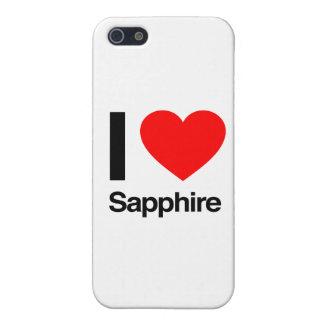 amo el zafiro iPhone 5 carcasas