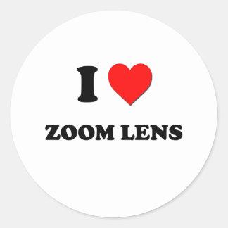 Amo el zoom pegatina redonda