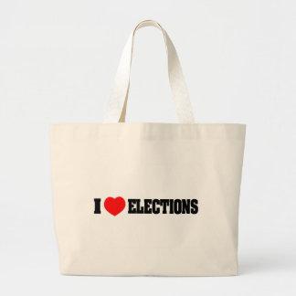 Amo elecciones bolsas lienzo