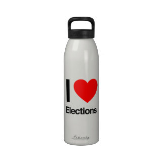 amo elecciones botella de beber