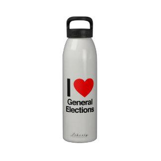 amo elecciones generales botellas de beber
