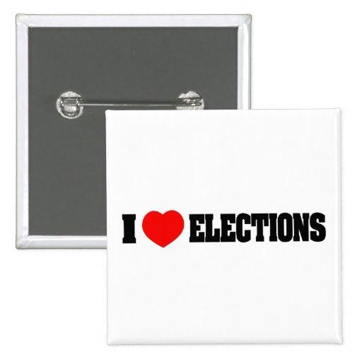Amo elecciones pins