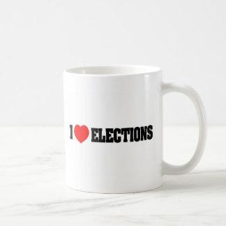 Amo elecciones taza de café