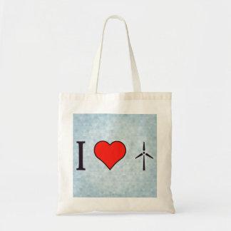 Amo electricidad del viento bolsa tela barata