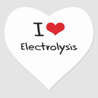 Amo electrólisis calcomanías corazones personalizadas
