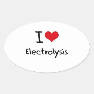 Amo electrólisis pegatinas de óval