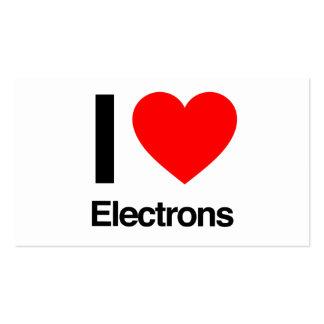 amo electrones plantilla de tarjeta de visita