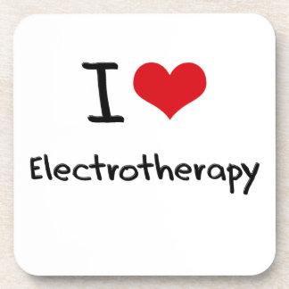Amo electroterapia posavasos de bebidas