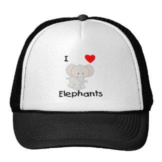 Amo elefantes (2) gorro de camionero