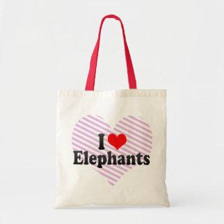 Amo elefantes bolsa tela barata
