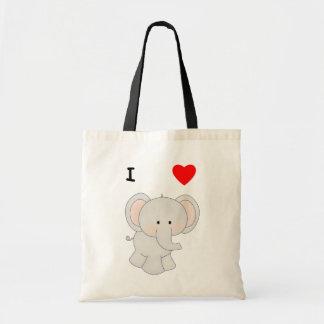 Amo elefantes bolsas de mano