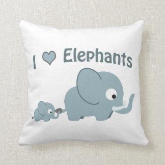 Amo elefantes cojín