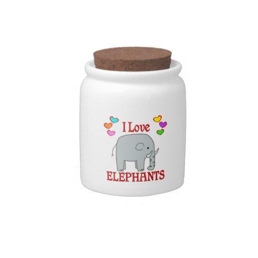 Amo elefantes jarra para caramelo