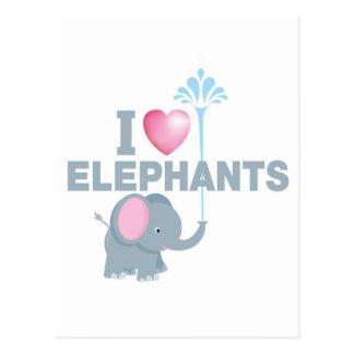 amo elefantes postal