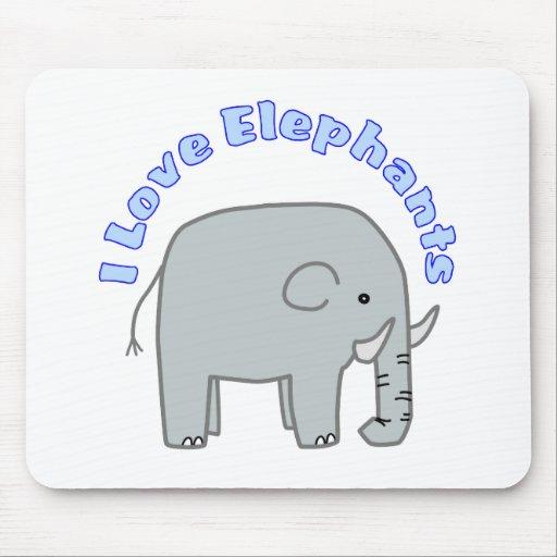Amo elefantes tapetes de ratón