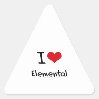 Amo elemental pegatina triangulo