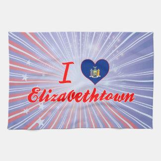 Amo Elizabethtown, Nueva York Toallas De Cocina