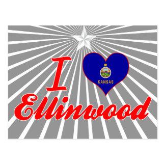 Amo Ellinwood, Kansas Tarjeta Postal