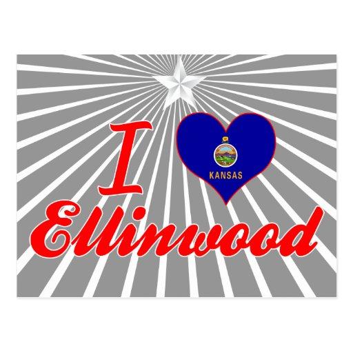 Amo Ellinwood, Kansas Tarjetas Postales