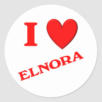 Amo Elnora Pegatina Redonda