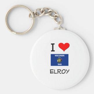 Amo Elroy Wisconsin Llavero Redondo Tipo Pin