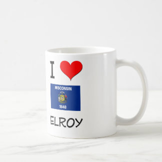 Amo Elroy Wisconsin Taza Básica Blanca
