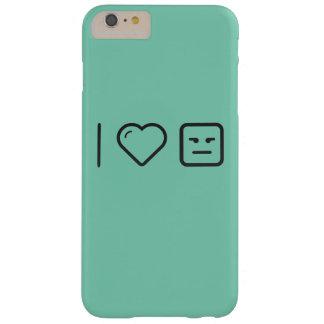 Amo Emoticons de la vergüenza Funda Para iPhone 6 Plus Barely There