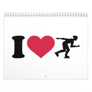 Amo en línea el patinar calendarios de pared
