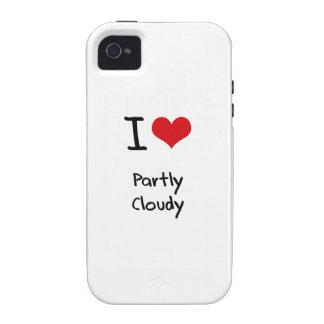 Amo en parte nublado iPhone 4/4S carcasas