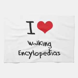 Amo Encylopedias que camina Toalla De Mano