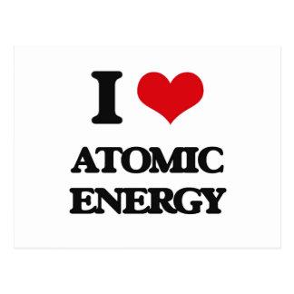 Amo energía atómica postales