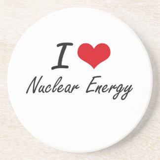 Amo energía nuclear posavasos personalizados