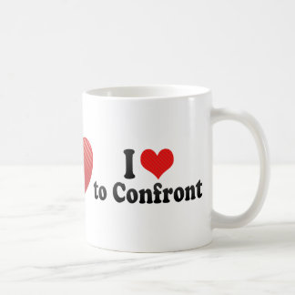 Amo enfrentar tazas de café
