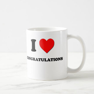 Amo enhorabuena tazas de café