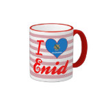 Amo Enid, Oklahoma Taza De Dos Colores