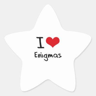 Amo enigmas calcomanias forma de estrella