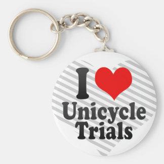 Amo ensayos del Unicycle Llaveros