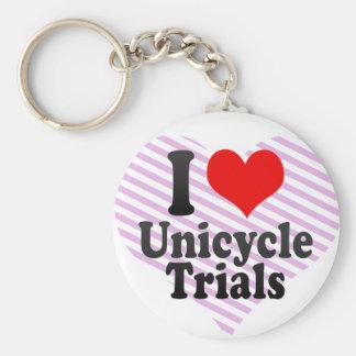 Amo ensayos del Unicycle Llavero