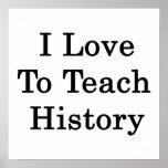 Amo enseñar a historia impresiones