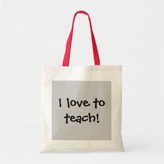 ¡Amo enseñar Bolsas