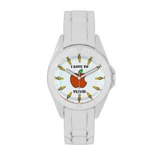 ¡Amo enseñar! (Personalizado) Relojes De Mano