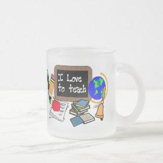 Amo enseñar tazas de café