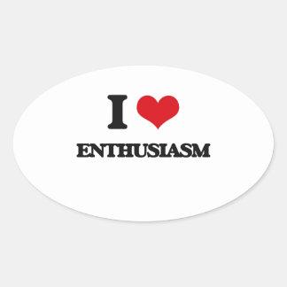 Amo entusiasmo colcomanias óval
