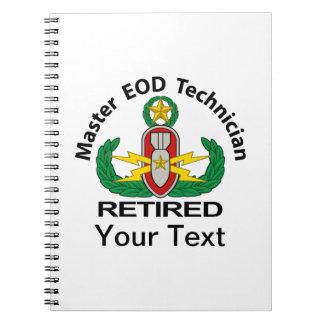 Amo EOD en el color jubilado Libros De Apuntes