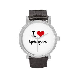 Amo epílogos relojes de pulsera