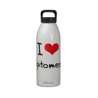 Amo epítomes botellas de agua reutilizables