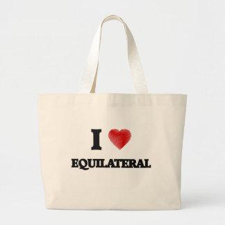 Amo EQUILATERAL Bolsa Tela Grande